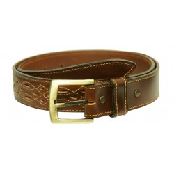 136B - Leather belt in Andalusian design