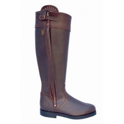 071 LG - Elegant Leather Riding Boots with long tassle